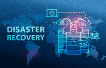 Disaster Recovery Cloud Server Data Loss Prevention Concept Background