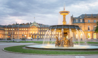 Morning View of Stuttgart Schlossplatz